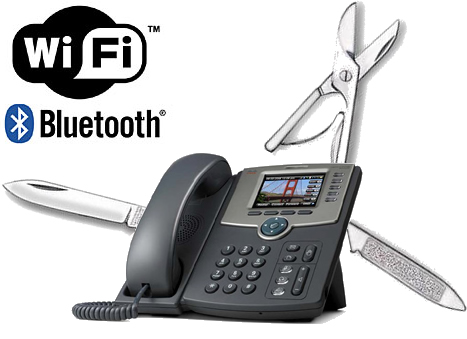First Look: Cisco SPA525G Desktop IP Phone with WiFi, BlueTooth and