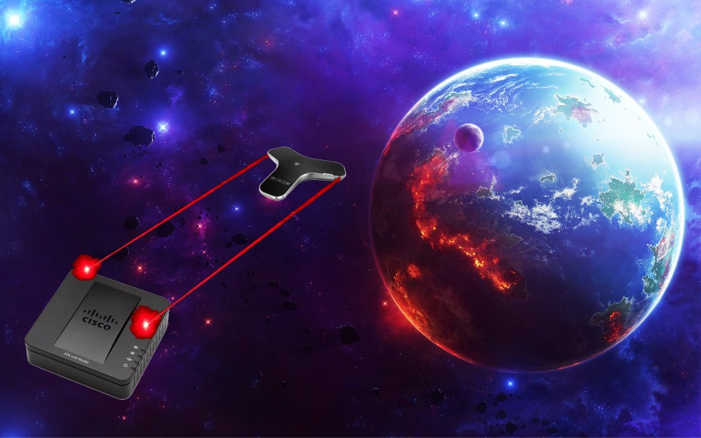 Badly Photoshopped VoIP Phones as Spaceships