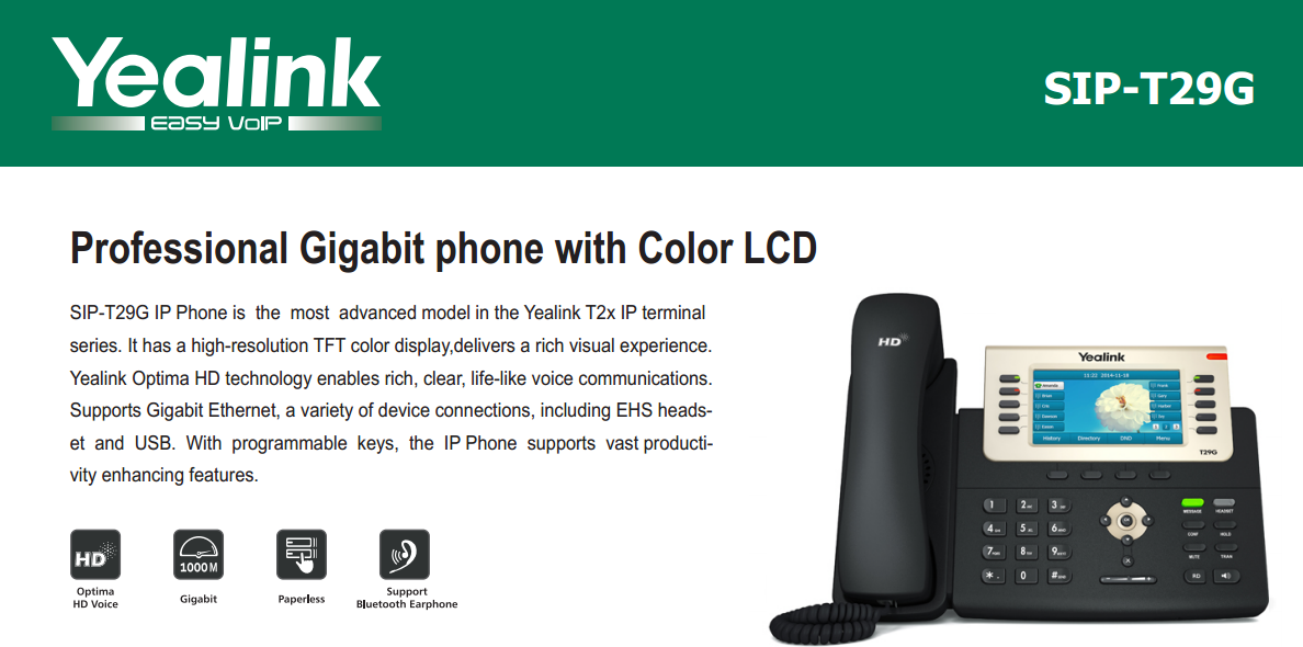 First Look Yealink SIP T29G Gigabit VoIP Phone