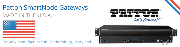 Patton SmartNode Gateways, Routers for Legacy VoIP SIP Trunking and IP PBX Connections