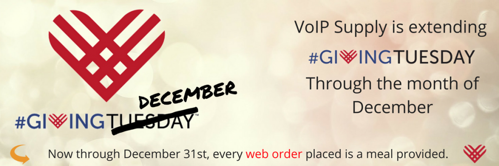 VoIP Supply Extends Giving Tuesday Throughout December