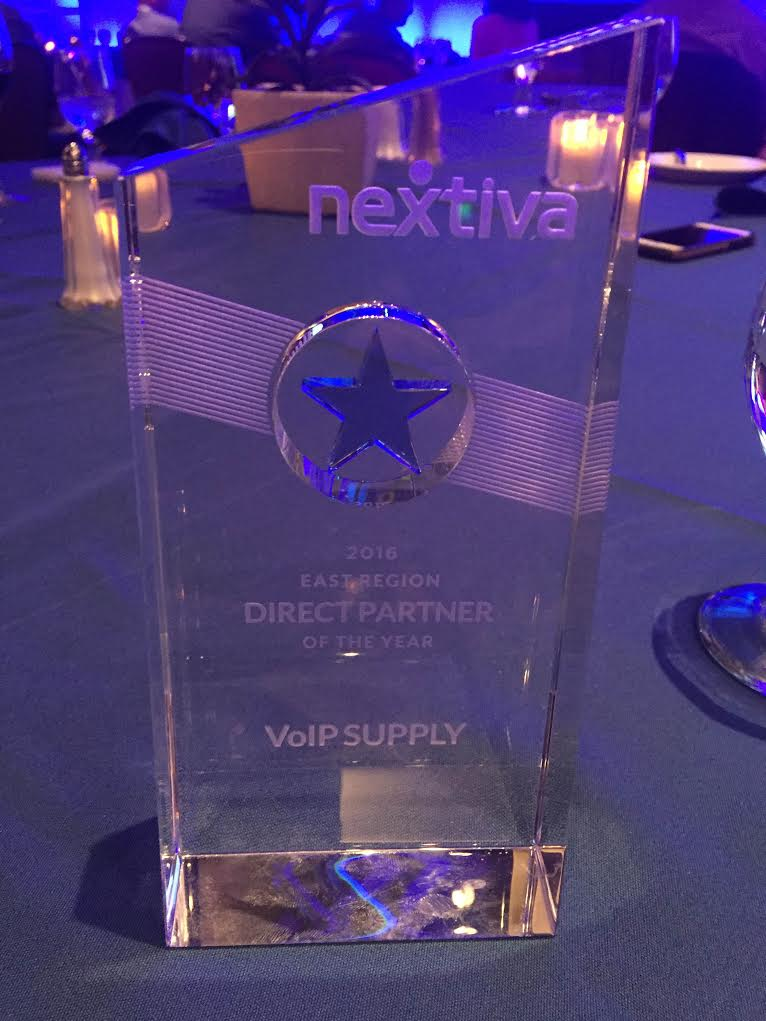 VoIP Supply Awarded Nextiva's Eastern Region Direct Partner of the Year at NextCon16