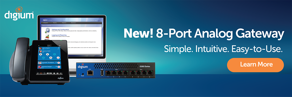 Digium Revealed the New G080 Multi-Port Analog Gateway with Robust
