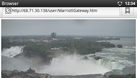Streaming video in browser from Niagara Falls webcam