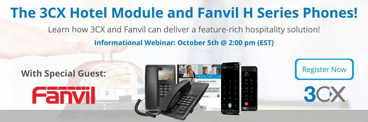 Hospitality Solutions with 3CX and Fanvil