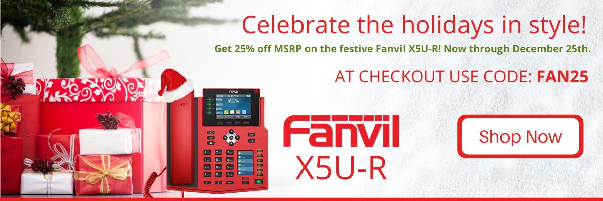 Fanvil X5U Red Promotion!