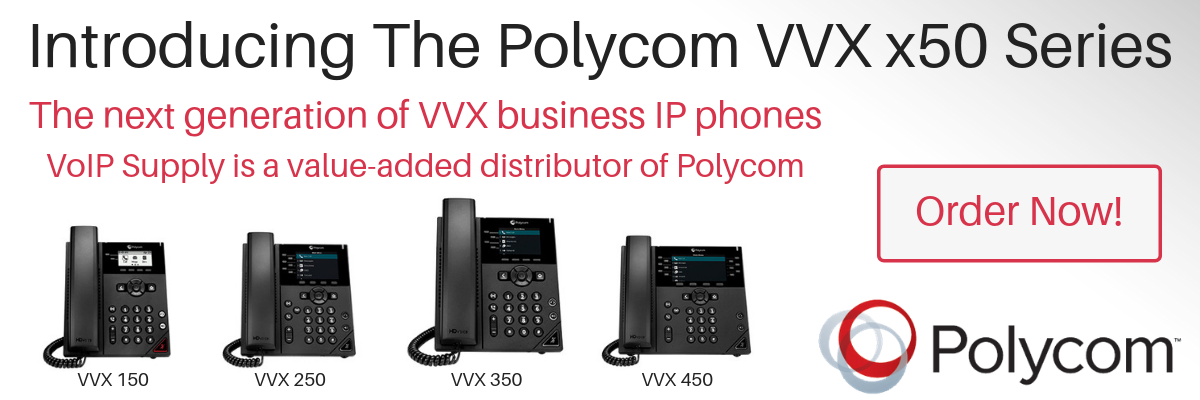 Polycom New VVX x50 Business IP Phones