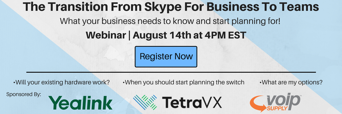 The Transition from Skype for Business to Teams - What you need to know!