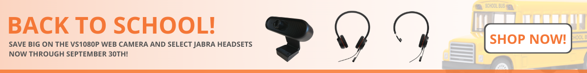 Back to school webcam and headset promotion
