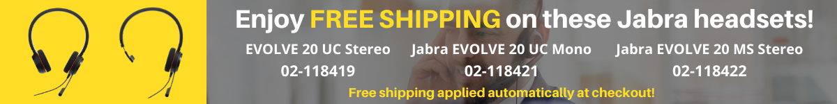Free Shipping on Jabra Evolve 20