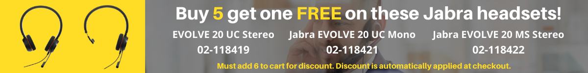 buy 5 get 1 free Jabra evolve 20