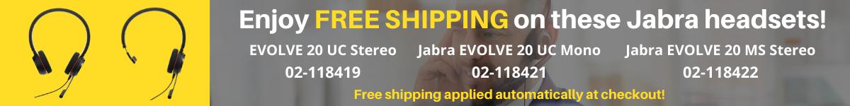 Free Shipping on Jabra Evolve 20