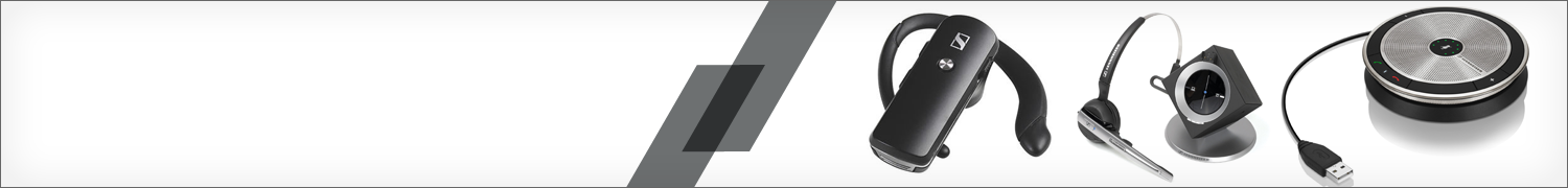 Wireless and wired VoIP headsets by Sennheiser