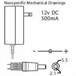 Polycom PV1250A 12VDC (IP301/501)