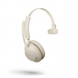 Jabra Evolve2 65 USB-A Mono MS Teams Headset Beige 26599-899-998
