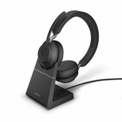 Jabra Evolve2 65 USB-C Mono MS Teams Headset with Stand Black