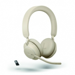 Jabra Evolve2 65 USB-A Stereo MS Teams Headset Beige 26599-999-998