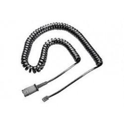 Plantronics U10-S19 Coil Cord to QD Modular Plug