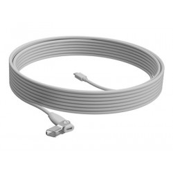 Logitech Rally Mic Pod Extension Cable in White