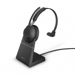 Jabra Evolve2 65 USB-C Mono MS Teams Headset with w/stand Black