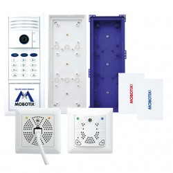 Mobotix MX-T25-SET2 for two-wire connection w/ tamper-proof electrical door opening (White)
