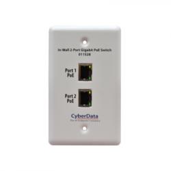 CyberData 011528 In-Wall 2-Port Gigabit PoE Switch