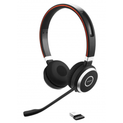 Jabra Evolve 65+ UC Stereo Wireless Headset with Charging Stand