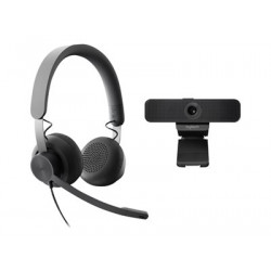 Logitech Zone Wired Microsoft Teams and C925e Wired Personal Video Collaboration Kit 991-000340