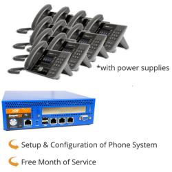 RenegadePBX Mini Pro 75 Appliance with Panasonic KX-UTG200 VoIP Phones
