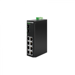 Patton FP1008E/2SFP/8AT/48DC Unmanaged Industrial PoE+ Ethernet Switch