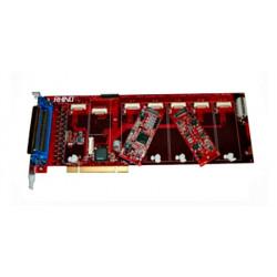 Rhino R24FXX-EC-0408 8FXS / 16FXO PCI Card with Echo Cancellation