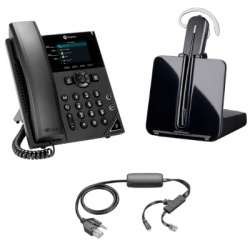 Plantronics and Polycom Small Office Phone and Headset Bundle