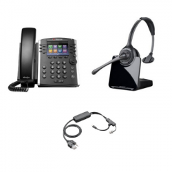 Plantronics CS510 and Polycom VVX 411 Small Office Bundle