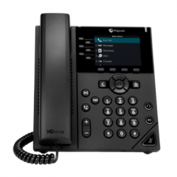 Polycom VVX 350 6-Line Mid-range Color IP Desktop Phone (2200-48830-025)
