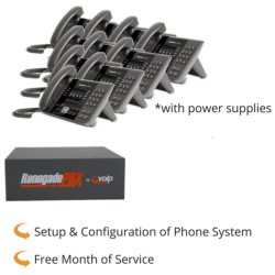 RenegadePBX mini Appliance with Panasonic KX-UTG200 VoIP Phones