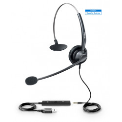 Yealink UH33 USB Mono Headset with 3.5mm jack