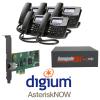 RenegadePBX mini single T1/E1 Bundle with Digum D40 phones