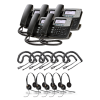 Digium D40 5-Pack Bundle with Wired Headsets