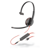 Plantronics Blackwire 3215 Monaural Corded USB-C Headset with 3.5 mm connection 209750-22