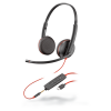 Plantronics Blackwire 3200 Series USB Headsets with USB-C and 3.5mm options for wireless devices