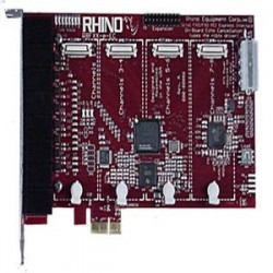 Rhino Equipment PCI Express Telephony Card - 4 FXO - (R8FXX-e-EC-02)