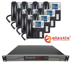 RenegadePBX 1U Appliance Bundle with Elastix Software and Grandstream GXP2130 VoIP Phones