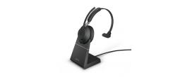 Jabra Evolve2 65 USB-A Mono UC Headset w/ Deskstand Black