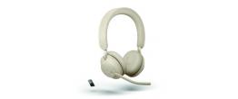 Jabra Evolve2 65 USB-A Stereo MS Teams Headset Beige