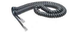 VoIPSupply.com 12ft. Charcoal Handset Cord