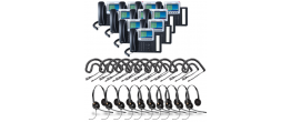 Grandstream GXP2160 10-Pack Bundle with Wired Headsets