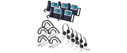Grandstream GXP2160 5-Pack Bundle with Wired Headsets