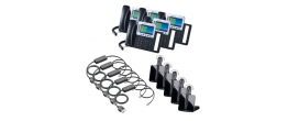 Grandstream GXP2160 5-Pack Bundle with Wireless Headsets