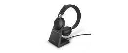 Jabra Evolve2 65 USB-C Stereo UC Headset w/stand Black