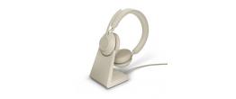 Jabra Evolve2 65 USB-A Stereo UC Headset w/ Deskstand Beige